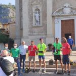 LakeRun 2021 il Podio : Francesco Agostini, Antonino Lollo, Marco Losio .